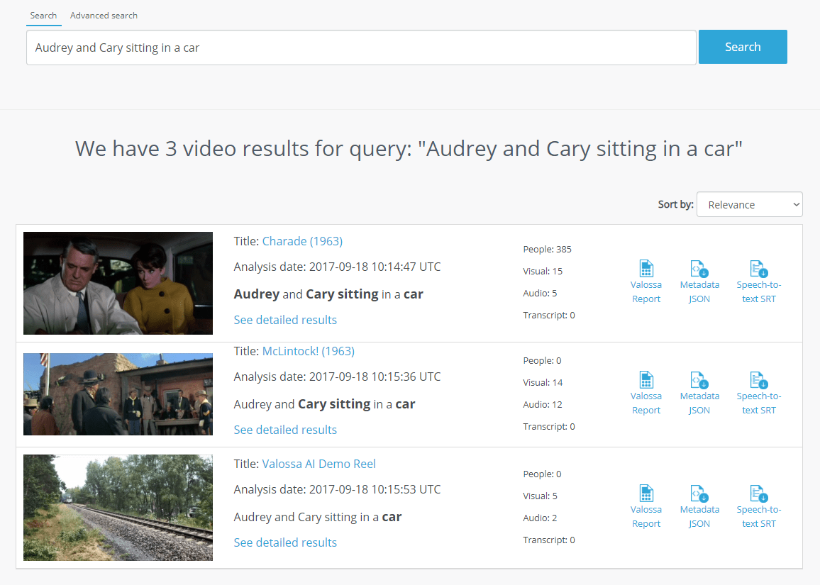 Deep content search allows you to discover details within videos